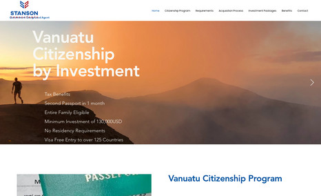 Stansons Consultants Editor X website for immigration consultancy in Va...