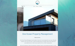 One Ocean Property Management Features custom moving background & a modern, slee...
