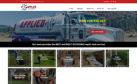 Applied Pumping & Septic WordPress to WIX - Applied Pumping & Septic - Serv...