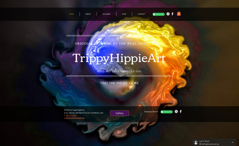 Trippy Hippie Art Designed website, online store and SEO along with ...