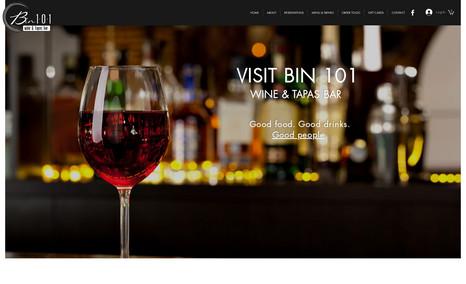 Bin 101 Wine & Tapas Bar We assisted Bin 101 in getting their takeout progr...