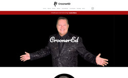 Crooner Ed High-end website for crooner which looks great bot...