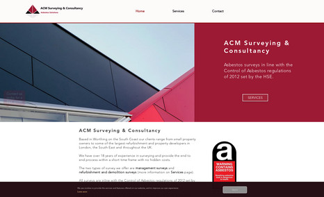 ACM Surveying & Consultancy Redesign of existing site.