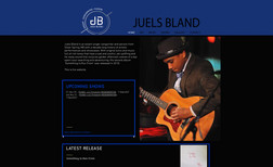 Juels Bland Band Web design, logo creation, training
