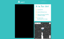 A is for Art Landing page for a Southampton Village Art Gallery...