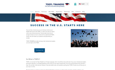 TOEFL Trainers Portuguese to English tutor for the TOEFL Test.