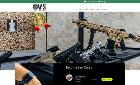 WS Instrução de Tiro Foi feita a criação da marca, criação do site Inst...