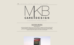 MKB Designs A portfolio website showcasing graphic design work...