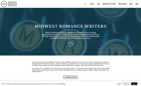 Midwest Romance Writers Moved client from WordPress to Wix Platform. The n...