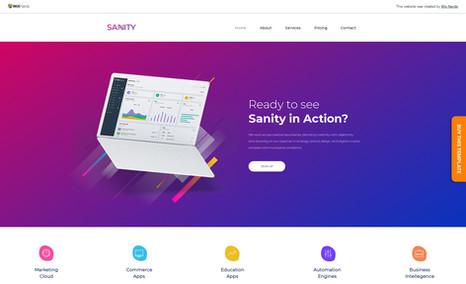 Sanity Premium Multi-purpose Wix Templates for Business, ...