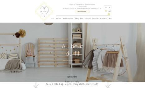 website Site pour la vente d'artisanat, boutique en ligne