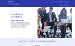 Achieving Resumes Website A website for small business in Florida. Resume wr...