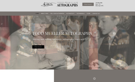 Todd Mueller Autographs My second website for this client in the US. Full ...