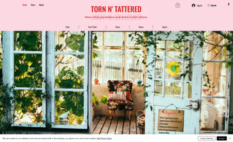tornandtattered T-Shirts to uplift, inspire and bring smiles to fa...