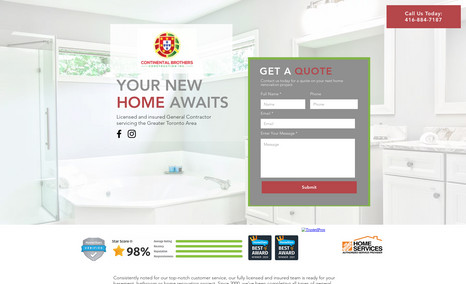 Construction Company Landing Page This home renovation business needed a professiona...