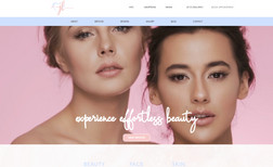 Beauty Face Skin Website for a company specializing in medical esth...
