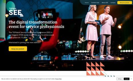 TOPdesk Event website