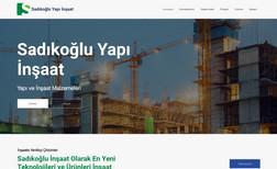 Sadıkoğlu Yapı İnşaat Web Site Development