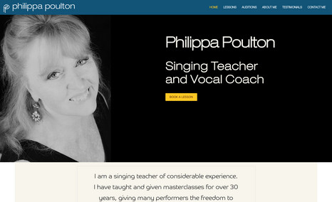 Philippa Poulton Simple website for experienced Singing Teacher and...