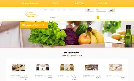 website Création des sites avancées e-commerce: hypermarch...