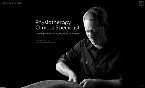 Jeff Begg Physio A very minimalist website for a physiotherapy prof...