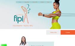 pilates Site para clínica de LPF e RPG