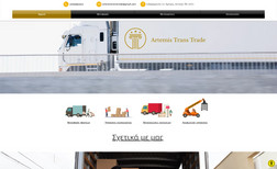 Artemis Trans Trade Website about transportations.