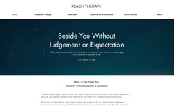 Reach Therapy Clean, clear and simple website for mental health ...