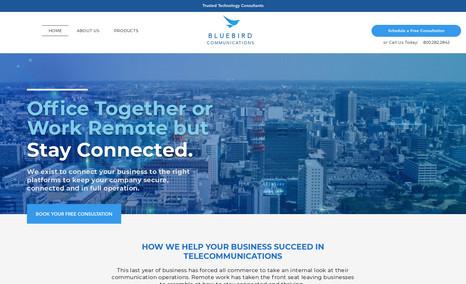 Bluebird Communication - Logo Design  - Branding Colors  - Font Choice - ...
