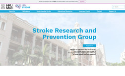 HKU Stroke Research and Prevention Group A website the work with HKU medical department.