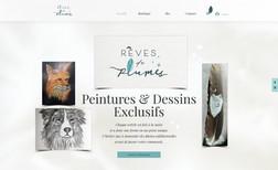 revesdeplumes E-commerce Boutique Peintures & Dessins Exclusifs