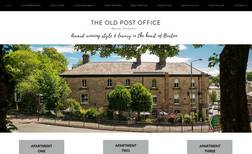 The Old Post Office, Buxton Holiday property website, associated new branding ...