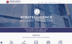 Stratelligence Website for a business consulting company