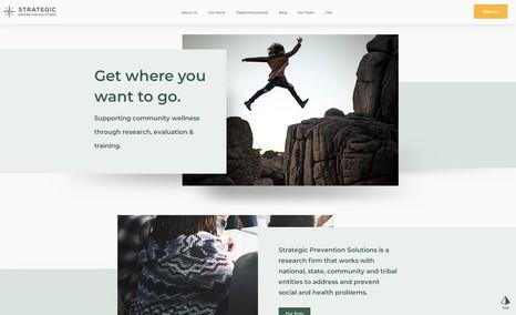 Strategic Prevention Solutions Complete rebrand from logo, website, email marketi...