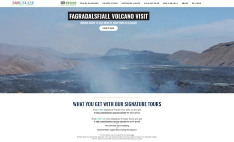 2 Go Iceland Travel Iceland. New Volcanic Eruption in Iceland. Helicop...