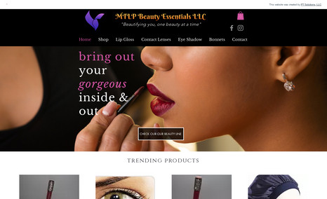 MTLP Beauty Essentials A beauty and makeup site designed to showcase a co...