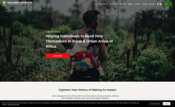 From Hunger To Harvest Website for an African Charity Organization. Trans...