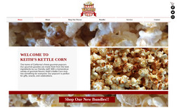 Keith's Kettle Corn Web design, ecommerce shopping cart, training, ong...