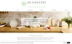Jo Santini Nutrition Brochure style website for Jo Santini Nutrition