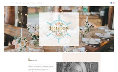 Webseite für Hochzeitsrednerin