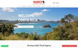Monkey Tours Adventures Sitio web de turismo y aventuras en Costa Rica.