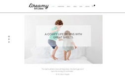 Dreamy Nite Linens Ecommerce Linens and Bedding shop located in Michi...