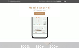 Incredible Design Solutions High-end website for modern and edgy design agency...