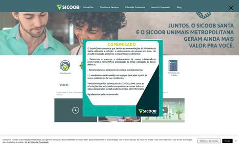 Sicoob - Unidade Santana - Layout - SEO - Ajuestes