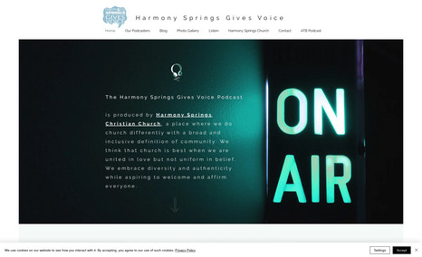 Harmony Springs Gives Voice Motivational podcast.