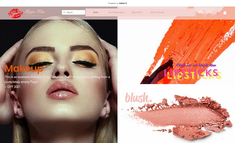 Kiss & Makeup ~ Beauty of a Website; being created on Editor X. ...