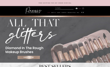 Parris Galore Luxury cosmetic website
