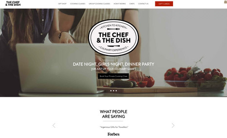 The Chef & The Dish - CORVID, booking, filters, gift certificates, integration, booking, custom wixpay, workflow, emails. backend services, mobile friendly. A tonnes of features and integration, help to scale business workflow.