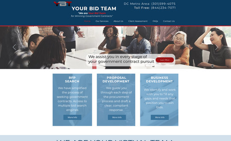 Your Bid Team This website was designed to showcase the client's...