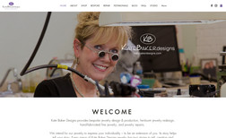Kate Baker Designs Website for a jewelry shop